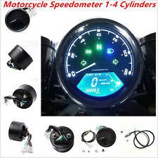 Universal 12000RMP LCD Digital Speedometer 1-4Cylinders Motorcycle Digital Gauge