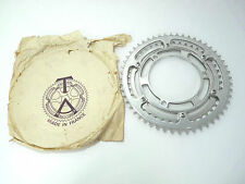 "TA Professional Chainring Set double 3 arm adapter 52/44T 3/32"" Vintage Bike NOS"