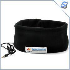 Fascia Testa Cotone Insonnia Con Cuffie Auricolari Integrati Jack 3.5mm Stereo