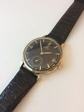 Vintage Omega 30 T2 RG 14 Karat Solid Gold Case Snap back 34 mm., Black dial