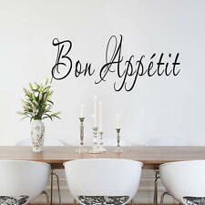 Quote Vinyl Wall Sticker French Bon Appétit  Home Kitchen Dining Room Art Decal