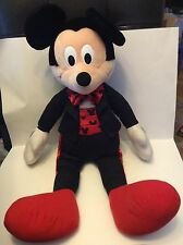Disney Mickey Mouse Tuxedo Suit Red Bow Sash