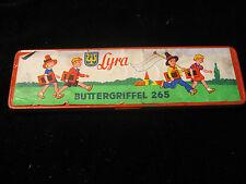 Alte Blechdose LYRA Buttergriffel 265 Griffel mit Original Inhalt  - RARITÄT
