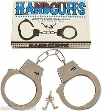 Handcuffs Metal Fun Love Cuffs Police Prisoner Costume Fancy Dress Prop Handcuff