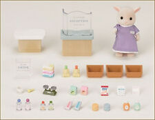JP Sylvanian Families H-16 Pharmacy (Drugstore) Set with Goat Father Doll
