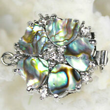 Natural MOP/Abalone Shell Zircon Clasp 1 Strand Craft