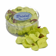 Rose Petals silk wedding table confetti Lime Green