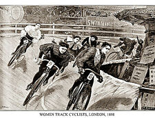 Historic Classic WOMEN TRACK CYCLISTS London 1898 Premium POSTER Print