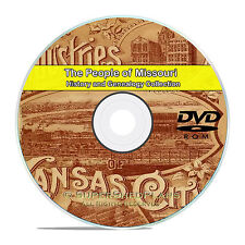 Missouri MO Civil War, Family Tree History Genealogy 121 Rare Books DVD CD B23