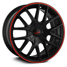 "17"" Touren TR60 Black Red Wheels Rims 5x4.5 5x100 5 Lug Honda Toyota Mazda VW"