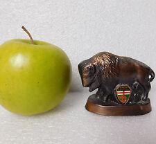 "Vintage bison ornament Brandon Manitoba Canada metal 3"" American buffalo animal"