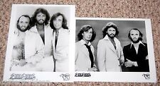 BEE GEES 1970's Stayin' Alive 2pc Group Press Photo Lot Barry Robin Maurice Gibb