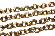 20ft 8.2x10.4mm Aluminium Cross Chain links Antique Bronze 1-3 day Shipping