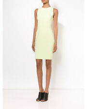 Narciso Rodriguez Scuba Dress Solid Fitted Citrine Jewel Neck Size 40 $1895