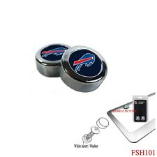 Brand New NFL Buffalo Bills Chrome License Plate Frame Screw Caps
