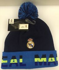 Real Madrid CF Winter Cap Hat Cuff Pom Blue Black Neon Green OSFM NWT New K1Y20