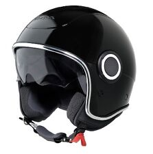 All New Genuine Piaggio Vespa VJ1 Helmet - Gloss Black Nero - Size X Large