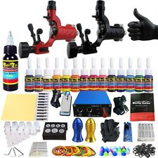 Solong Tattoo Kits Tattoo Machine Guns Set Ink Power Supply Grip Tips TK203-16