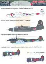 Owl Decals 1/48 RED STARS ON NIGHT SKY Russian Night Fighters with PHOTO ETCH