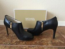 Michael Michael Kors Sammy Ankle Boot Women US 8M Black Pre Owned