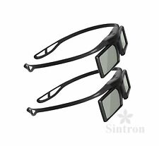 [Sintron] 2X 3D Active Glasses for 2015 Panasonic 3D TV TH-50CX700A TH-55CX700A