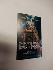2004 Disneyland Park Hopper TICKET Twilight Zone Tower of Terror Hotel Disney