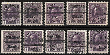 Canada 5c KGV Admiral pre-cancels, Scott 112xx, used all different, - NICE !!!