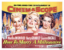 HOW TO MARRY A MILLIONAIRE LOBBY CARD POSTER HS 1953 MONROE GRABLE BACALL