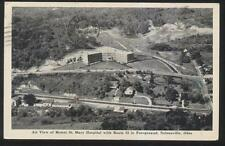 Postcard NELSONVILLE Ohio/OH  Mount St Mary Hospital Campus Aerial view 1930's