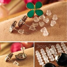 500pcs/set Soft Clear Transparent Chunky Back Stand Earring Ear Stud Covers