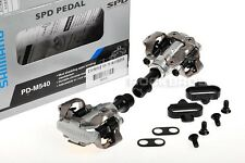 Shimano SPD Pedals M540 Mountain Bike MTB Clipless Pedals 9/16 Silver New