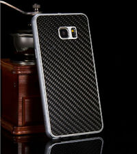 Luxury Aluminum Metal Carbon Fiber Cover Case For Samsung Galaxy S 6 Edge Plus