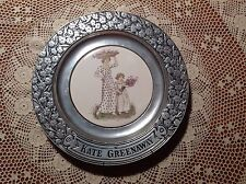 Vintage KATE GREENAWAY Plate 1973 RWP Wilton Armetale & Ceramic Mother & Child