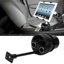 12/24V Power Cup Mount Car Charger Cup Holder Playbook Tablet USB Universal New