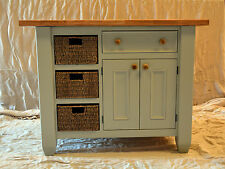 Kitchen island handmade solid wood painted in a colour of your choice