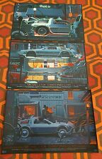 Back to the Future Trilogy Variant Screen Print set Laurent Durieux Mondo Ltd ed