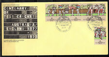 australia fdc 1977 centenary of test cricket         c5