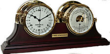 Brass 24 Hour Clock Barometer Thermometer Set