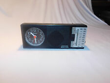 Vintage Sankyo Am-Fm Radio with Quartz clock Radio Transistor WORKS GREAT #134 P