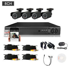 8CH 960H HDMI DVR 800TVL Outdoor CCTV Home Security Waterproof Camera System US