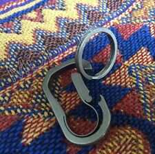 TC4 Titanium Scrub Snap lock Quickdraw Buckle Carabiner Clip Keychain ring Tool