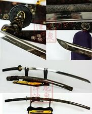 HighEnd Clay Tempered nodachi Japanese Sword Shihozume Structure full skin saya
