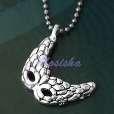 5x Silver Plated Mask Bead Pendant for Necklace Jewelry M*