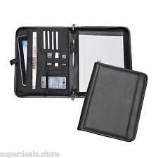 Black Color Zip-Around Padfolio Organizer for USB Tablet Phone - AP8116