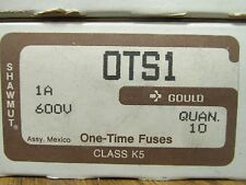 NEW BOX OF 10 GOULD SHAWMUT OTS1 FUSES ................ VE-06