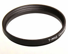 T2 T-mount to M42 lens converter adapter ring 42-42mm M42x1 mm 42x0.75-42x1