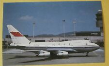 CAAC Civil Aviation Administration China Boeing 747SP-J6 B-24Airline Postcard