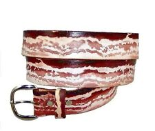 BACON PORK PRODUCER PIG RIND 4H OINKER SOW HOG BOAR FFA LEATHER BELT & BUCKLE