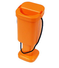 25 Charity Money Collection Boxes - Orange - Brand New Plastic Tins with Seals