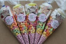15 x Pre filled Kids Christening Sweet party cone Bags free postage